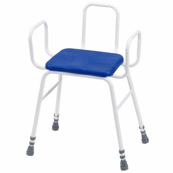 Lux Perching Stool With Arms & Back