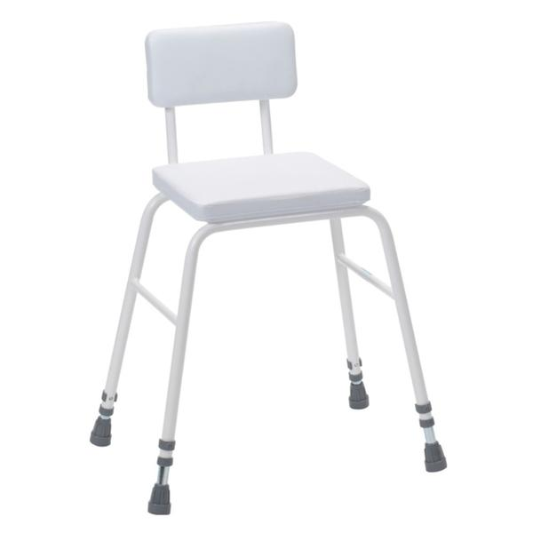 Perching Stool With Padded Backrest