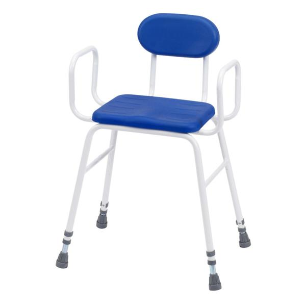 Lux Perching Stool With Arms & Padded Back