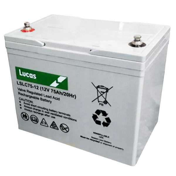 Two Lucas 75AH Batteries, Includes Fitting