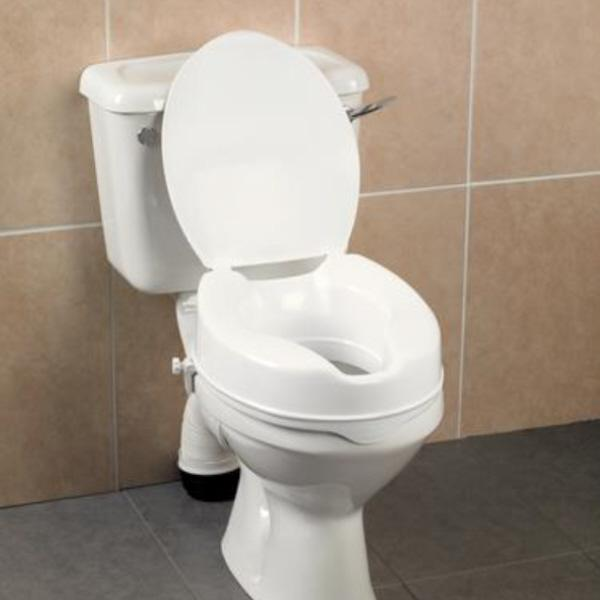 Wondrous Deluxe Raised Toilet Seat With Lid 6 Inch Mobility Evergreenethics Interior Chair Design Evergreenethicsorg