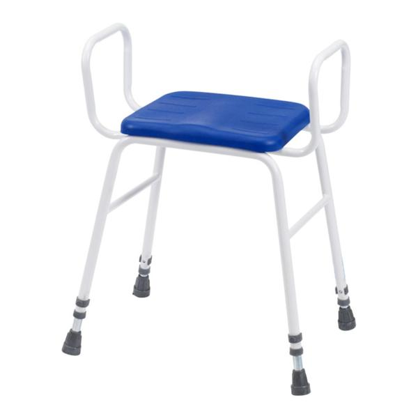 Lux Perching Stool With Arms