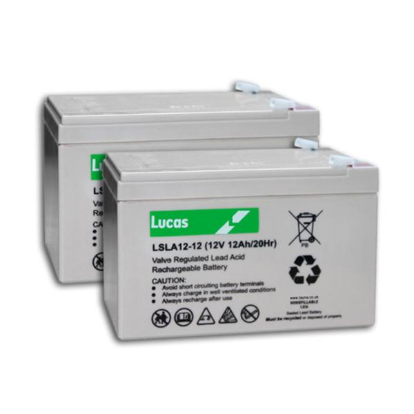 Two Lucas 12AH Batteries, Includes Fitting