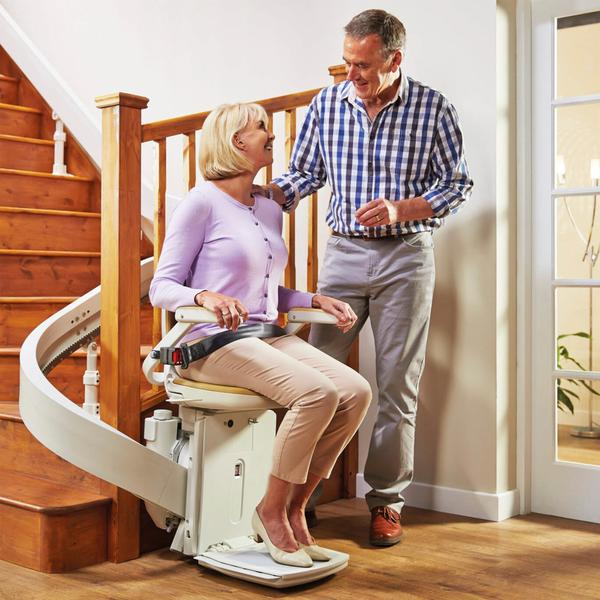 Slimline Curved Stairlift