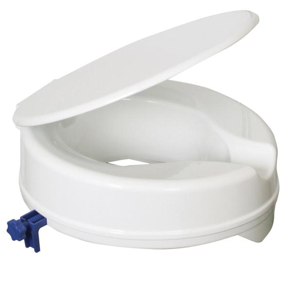 4 Inch Budget Raised Toilet Seat With Lid