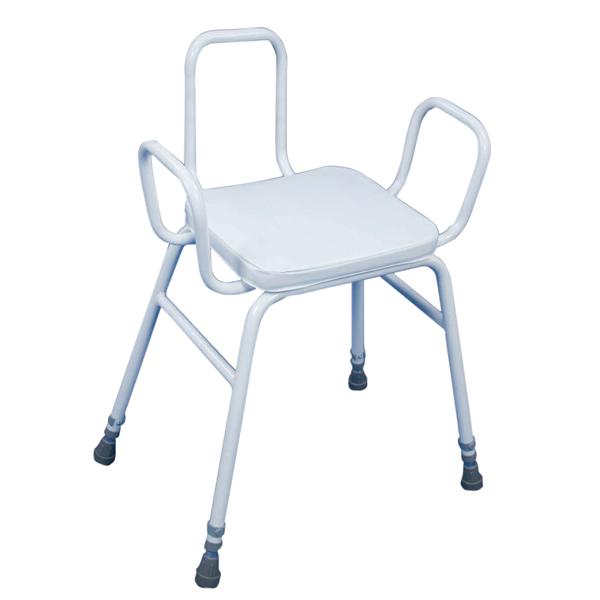 Perching Stool With Arms & Backrest