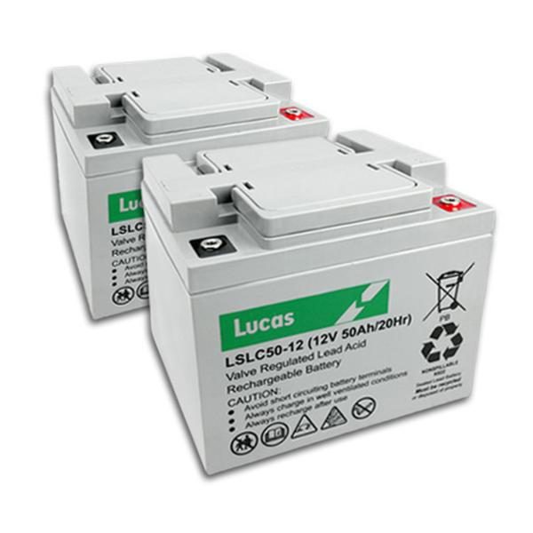Two Lucas 50AH Batteries, Includes Fitting